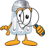 Clip Art Graphic of a Salt Shaker Cartoon Character